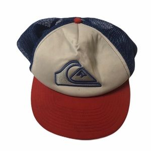 Quicksilver SnapBack mesh red white blue hat